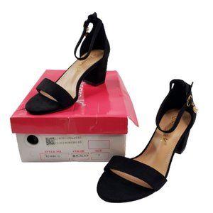 Allegra K Women's Size 7 High Chunky Heel Buckle